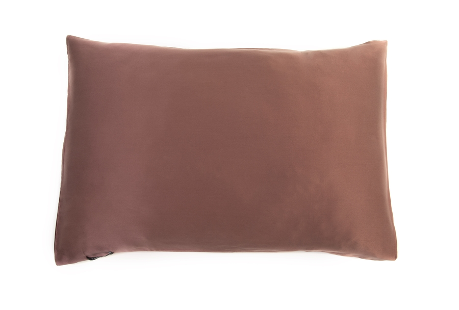 Hofsilk - 100% Silk Pillowcase Brickred-brown
