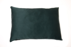 Hofsilk - 100% Silk Pillowcase Dark Green & Sleeping Mask (1)