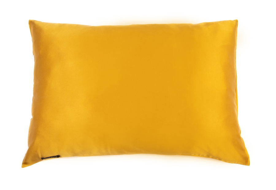 100% Silk Pillowcase Mustard