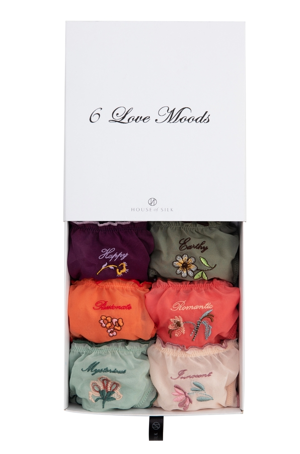 House of Silk - 6 Love Moods Gift Pantie Set - 6 Pieces