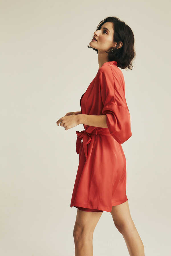 Hofsilk - Basic Matte Sateen Robe Red