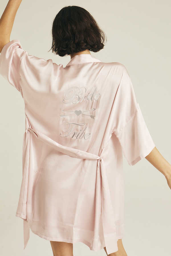 Hofsilk - Basic Matte Sateen Robe Soft pink