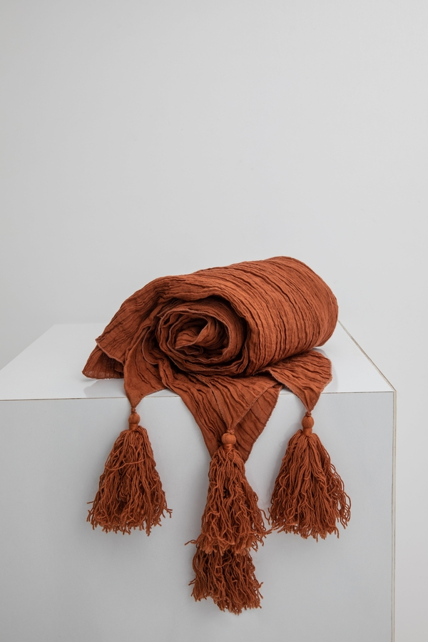 House of Silk Maison - Chocolate Brown Linen Throw