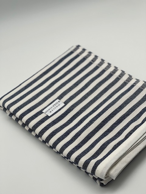 House of Silk - Cotton Navy Blue Striped Loincloth