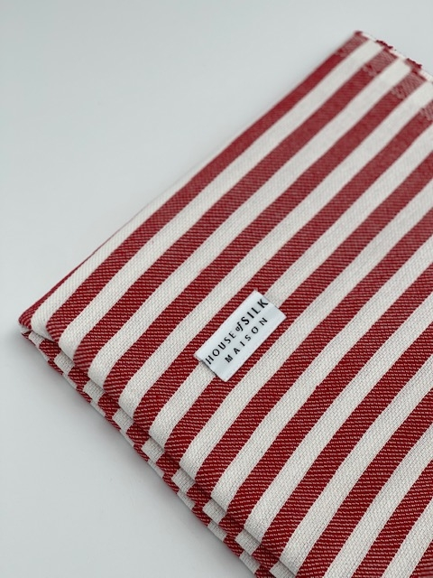 House of Silk - Cotton Red Striped Loincloth (1)
