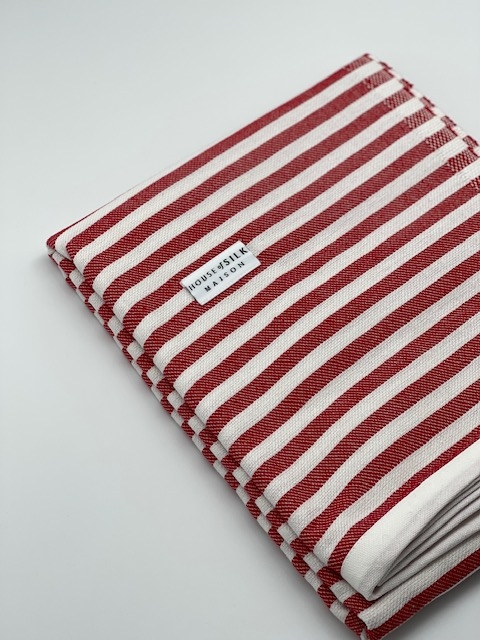 House of Silk - Cotton Red Striped Loincloth