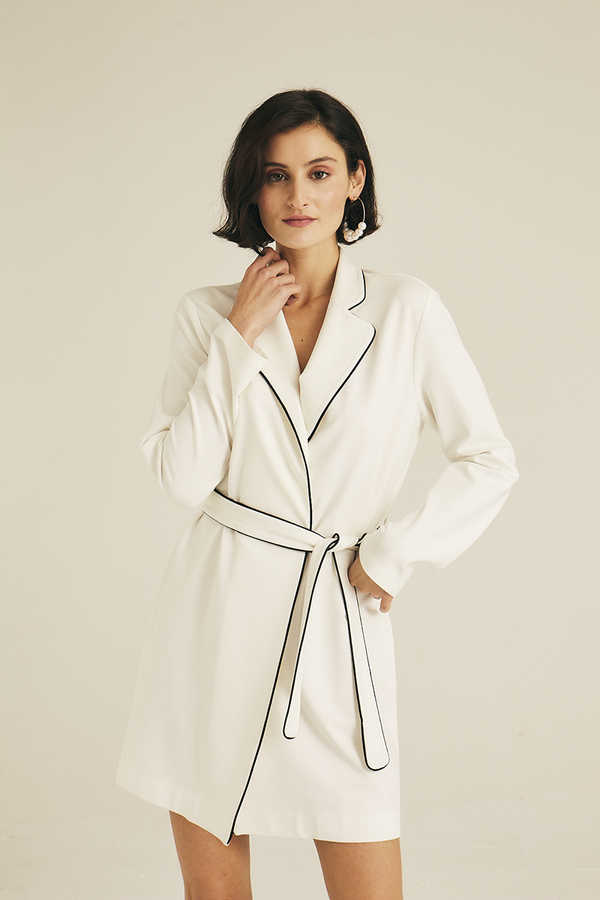 Hofsilk - Cotton Jacket Dress White