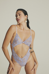 House of Silk - Cut Out Lilac Bodysuit (1)