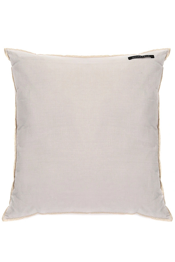 House of Silk Maison - Recycled Cotton Cushions Beige