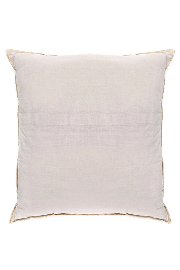 House of Silk Maison - Recycled Cotton Cushions Beige (1)