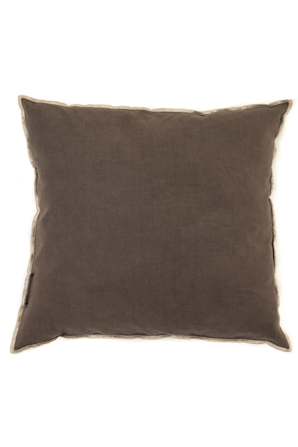 House of Silk Maison - Recycled Cotton Cushions Chocolate Brown