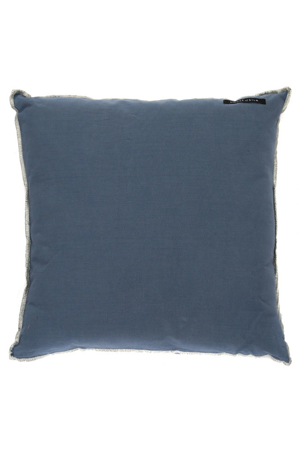 House of Silk Maison - Recycled Cotton Cushions Navy Blue