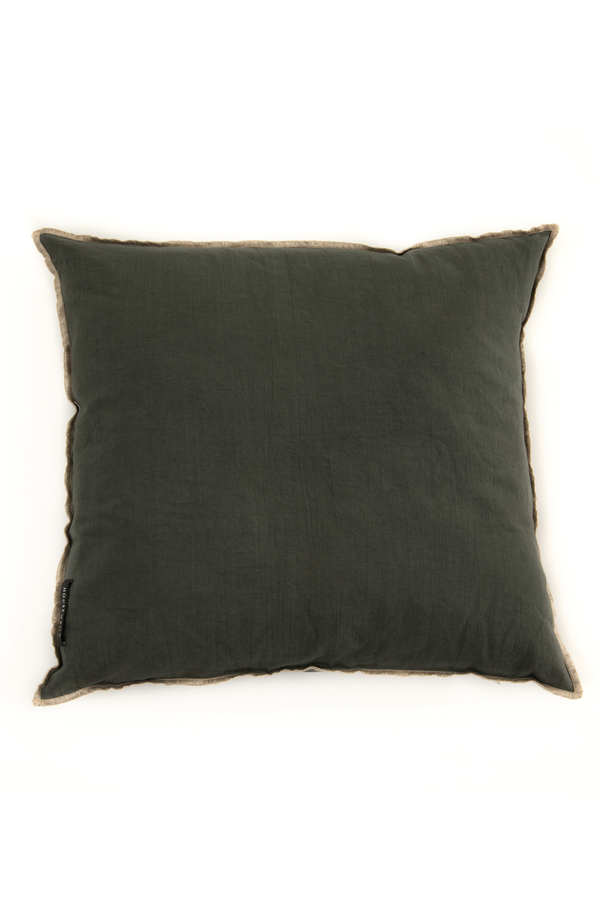 House of Silk Maison - Recycled Cotton Cushions Green