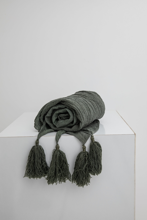 House of Silk Maison - Green Linen Throw