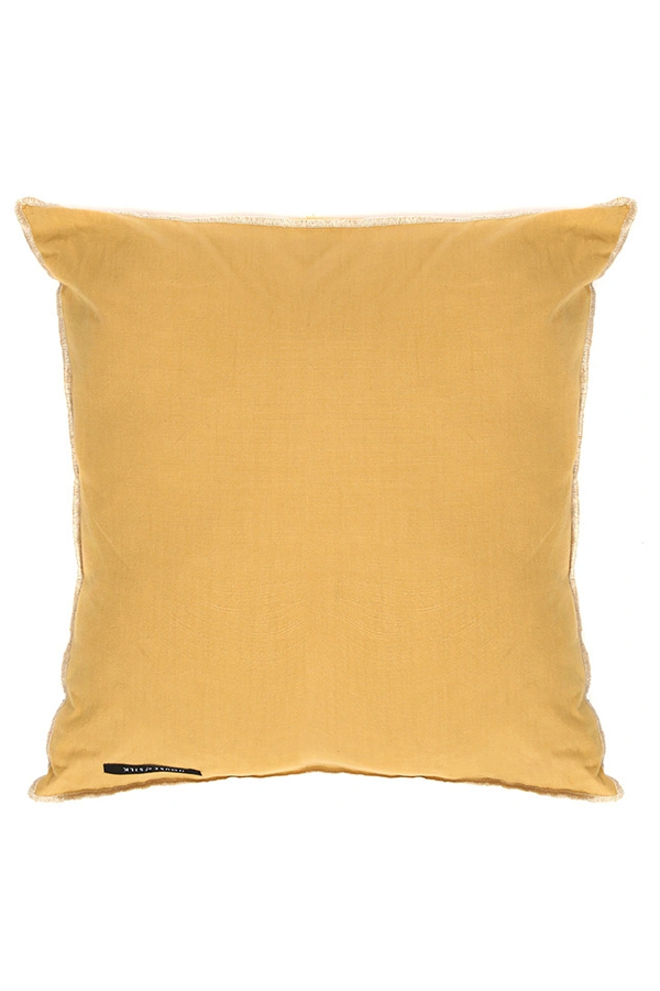 House of Silk Maison - Recycled Cotton Cushions Mustard