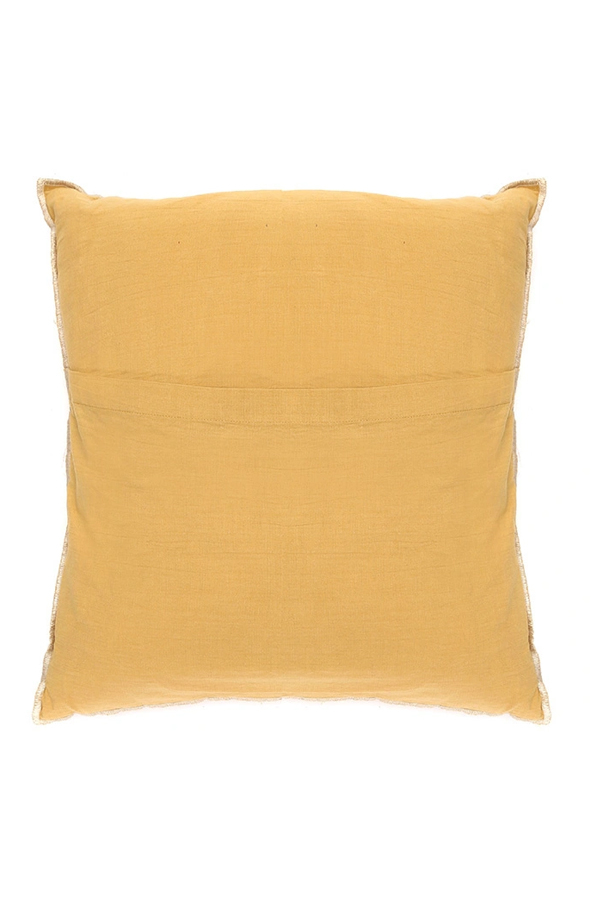 House of Silk Maison - Recycled Cotton Cushions Mustard (1)