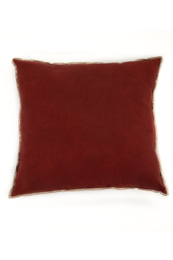 House of Silk Maison - Recycled Cotton Cushions Dark Tile