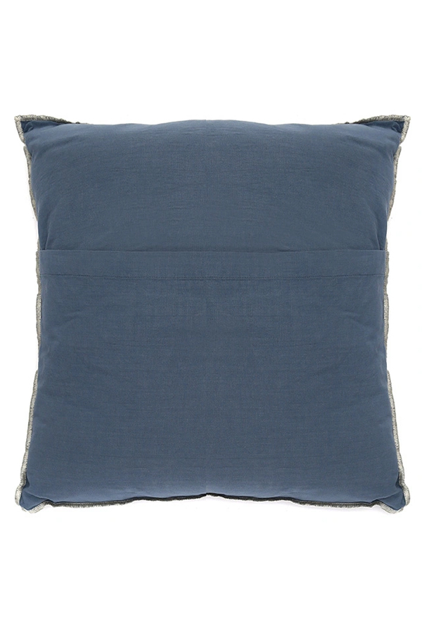 House of Silk Maison - Recycled Cotton Cushions Navy Blue (1)