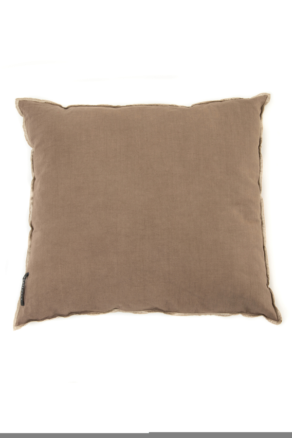 House of Silk Maison - Recycled Cotton Cushions Taupe