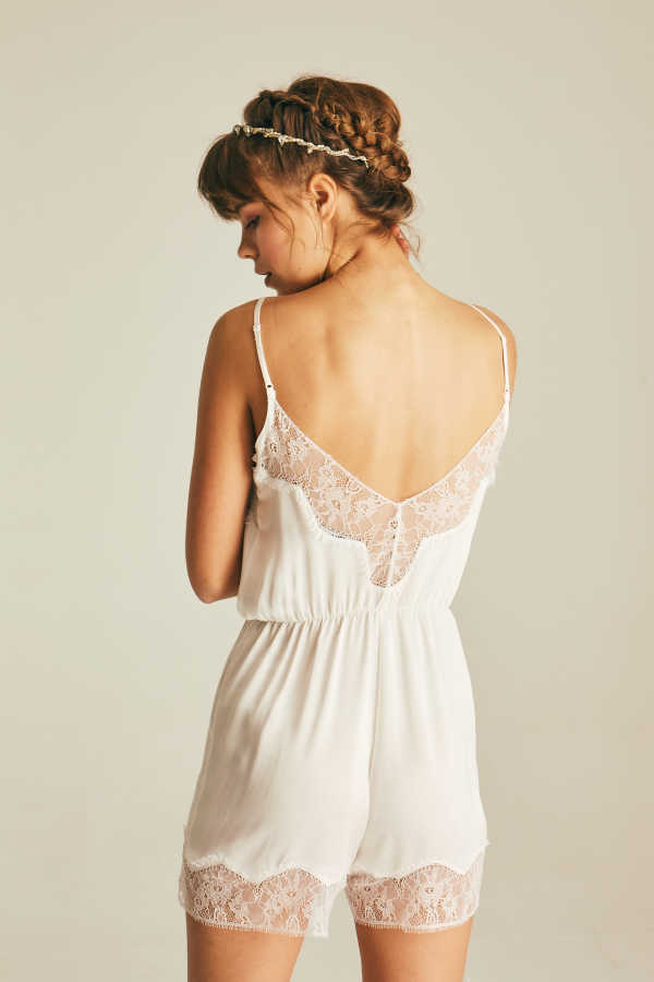 House of Silk - Silk Lace Playsuit (1)