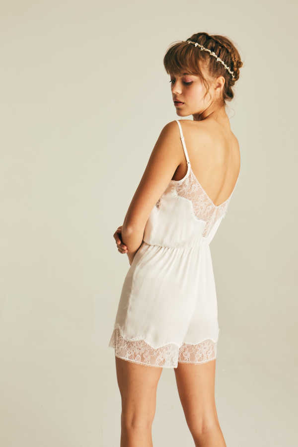 Hofsilk - Lace Silk Playsuit