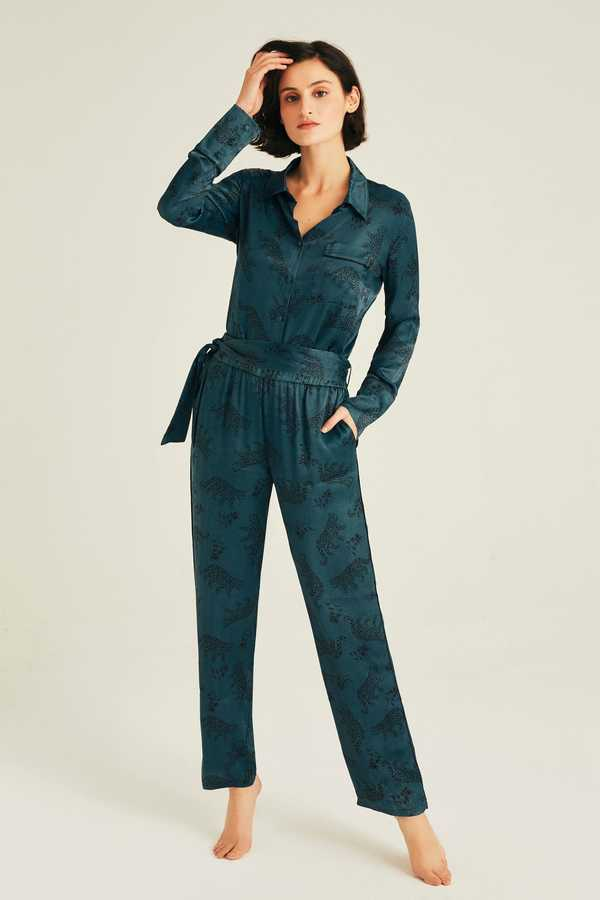Hofsilk - LEO Pyjama Suit Darkblue