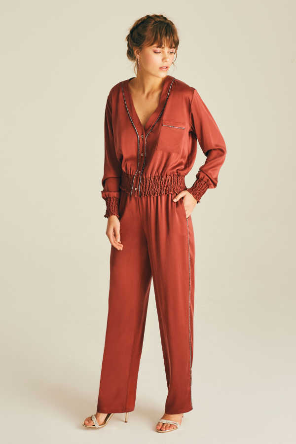 Silk Lila Night Pants