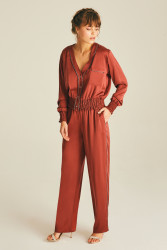 Silk Lila Night Pants - Thumbnail