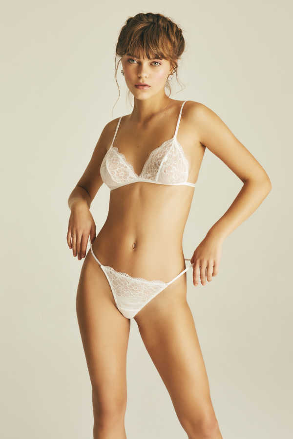 House of Silk - Luxe Shine Lace Triangle Bra
