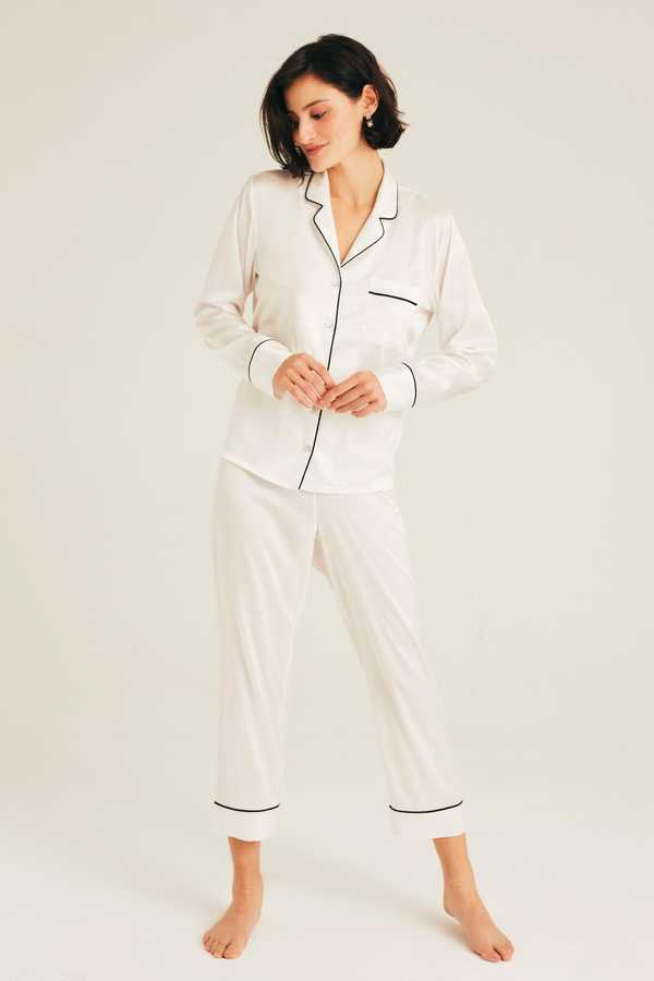 Hofsilk - Luxury Silk White Pajama Suit