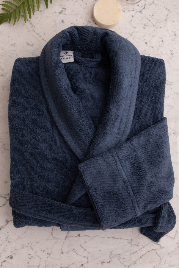 House of Silk Maison - Navy Robe