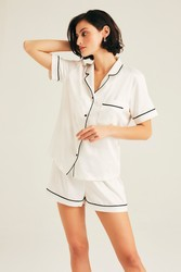 Hofsilk - Sateen Short Pyjama Suit