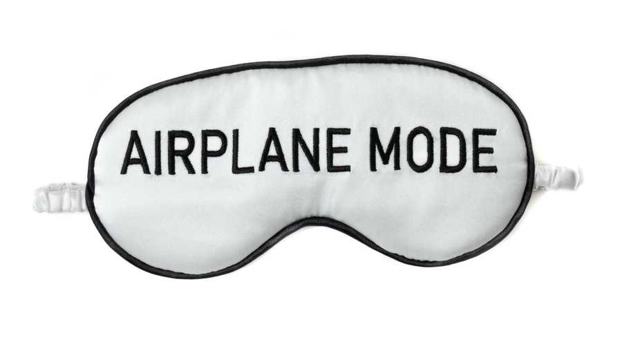Hofsilk - Silk AIRPLANE MODE Sleeping Mask & Sateen Bag