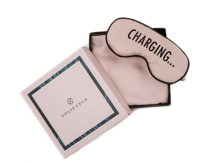 Silk CHARGING Sleeping Mask & Pillowcase Set