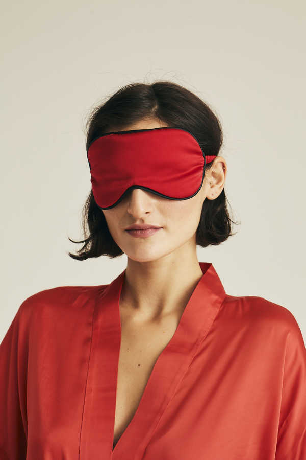 Hofsilk - Silk Fire Sleeping Mask Red