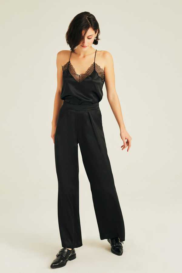 Hofsilk - Silk Matilda Pants Black