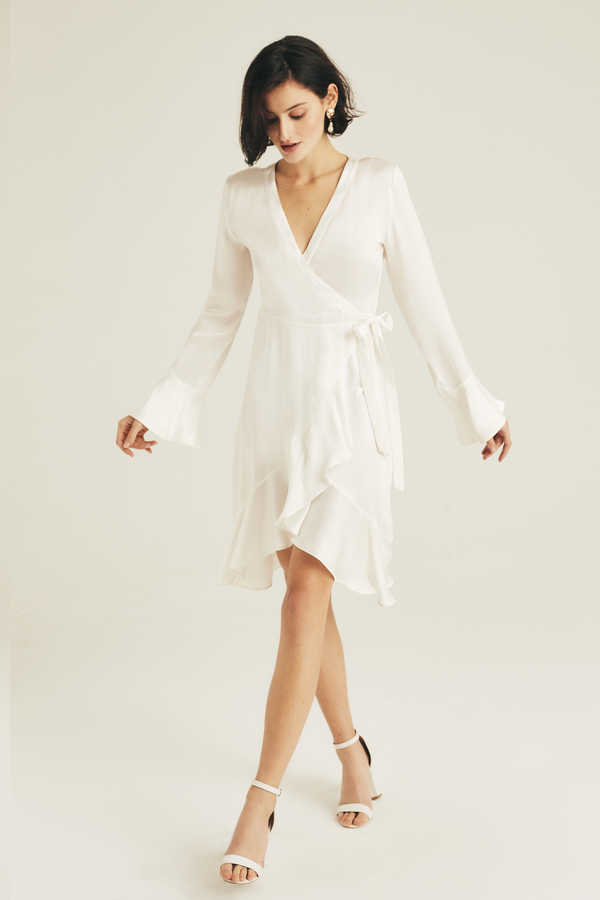 Hofsilk - Silk Mila Ruffle Bridal Robe