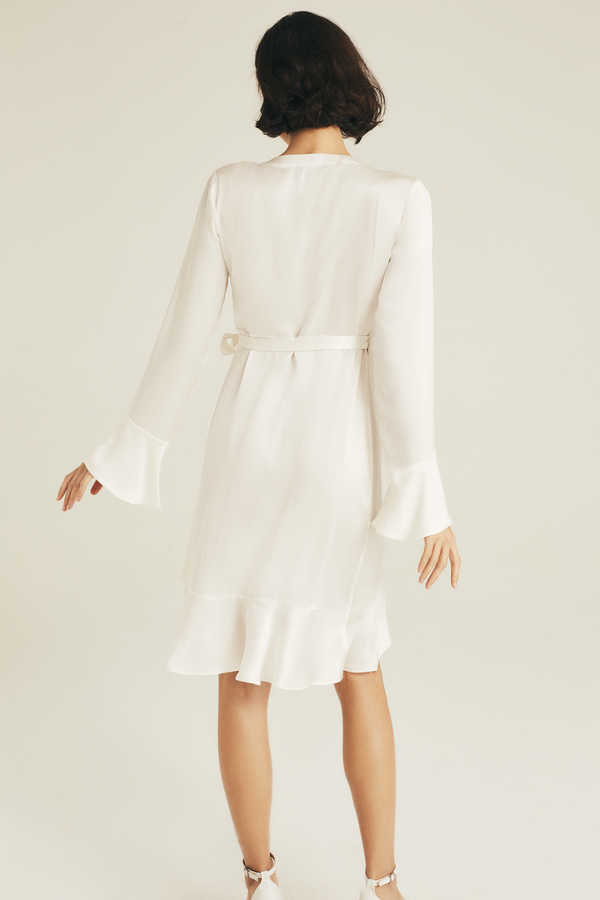 Hofsilk - Silk Mila Ruffle Bridal Robe (1)