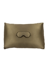 House of Silk - Silk Pistachio Green Sleeping Mask & Pillowcase Set (1)