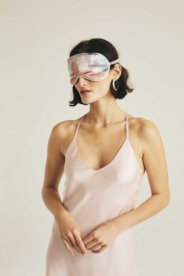 Hofsilk - Luxe Velvet Sleeping Mask Marble