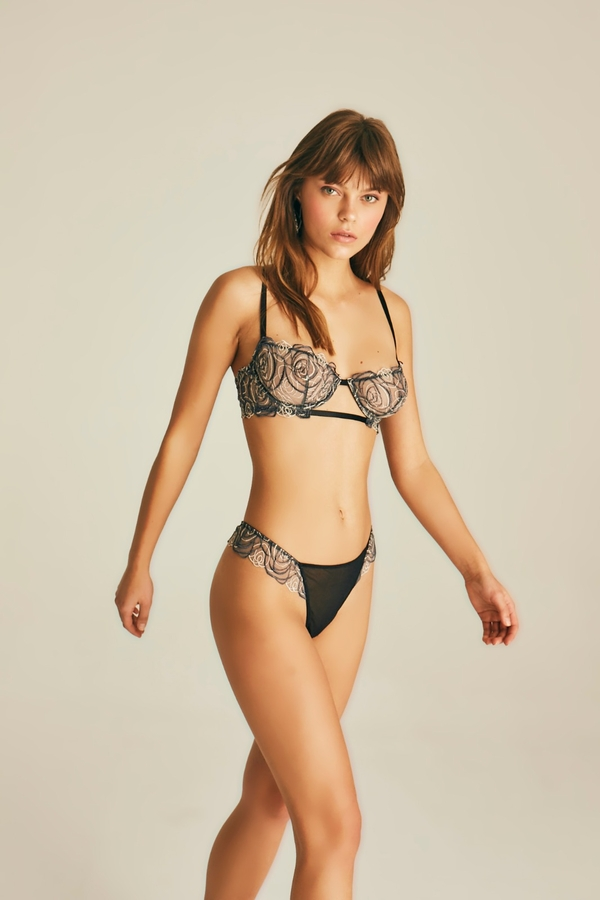 Spiral Lace Thong