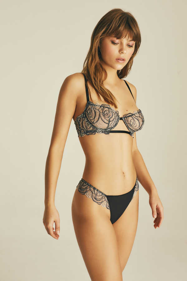 House of Silk - Spiral Lace Thong