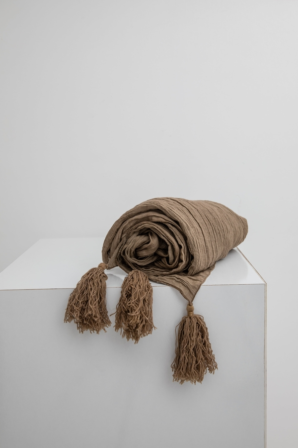 House of Silk Maison - Taupe Linen Throw
